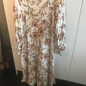 Cream Floral Maxi Dress from H and M